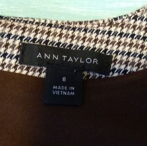 Ann Taylor tweed-look midi dress